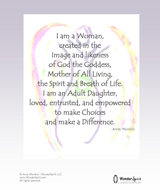 I am a goddess art and words by anne wondra-wonderspirit.com